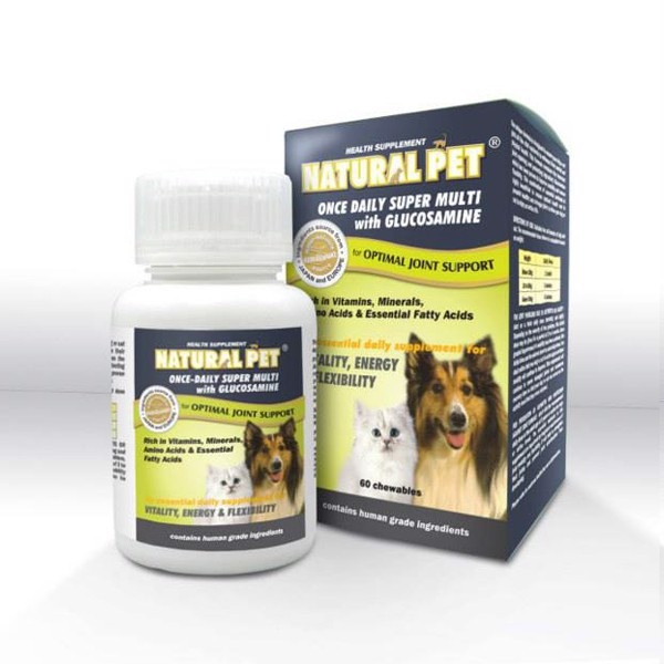 Natural Pet Super Multi with Glucosamin 60v