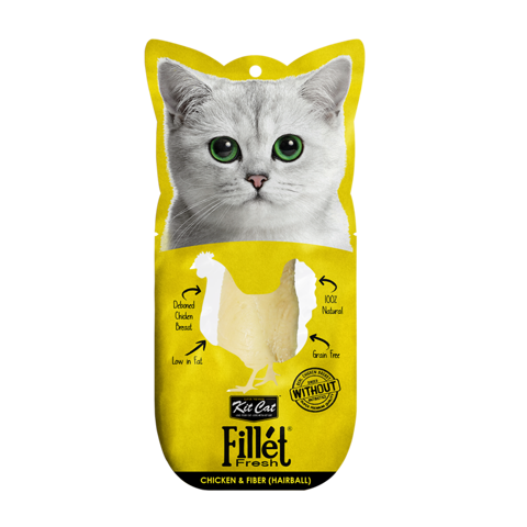Kit Cat Fillet Fresh Chicken And Fiber (Hairball) 30gr