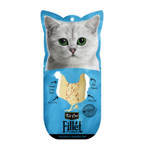 Kit Cat Fillet Fresh Chicken And Smoked Fish 30gr