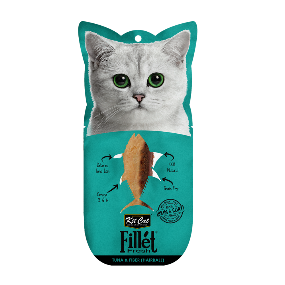 Kit Cat Fillet Fresh Tuna And Fiber (Hairball) 30gr