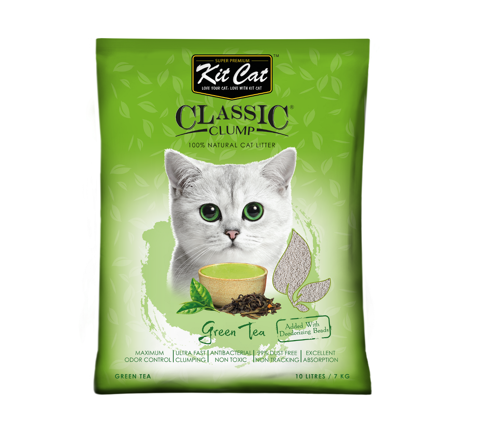 Kit Cat Trà Xanh_XANH_GreenTea 10L