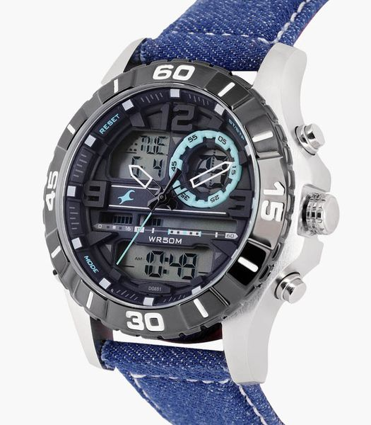 Đồng hồ nam Black Analogue and Digital Watch