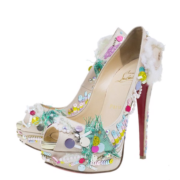 Giày Christian Louboutin Make Up Trash Lady Peep Toe
