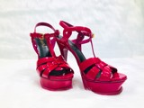 Giày YSL Tribute Patent Leather Sandal