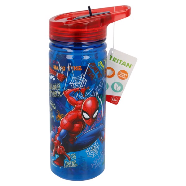 Bình nước LARGE TRITAN SPIDERMAN GRAFFITI  580ML