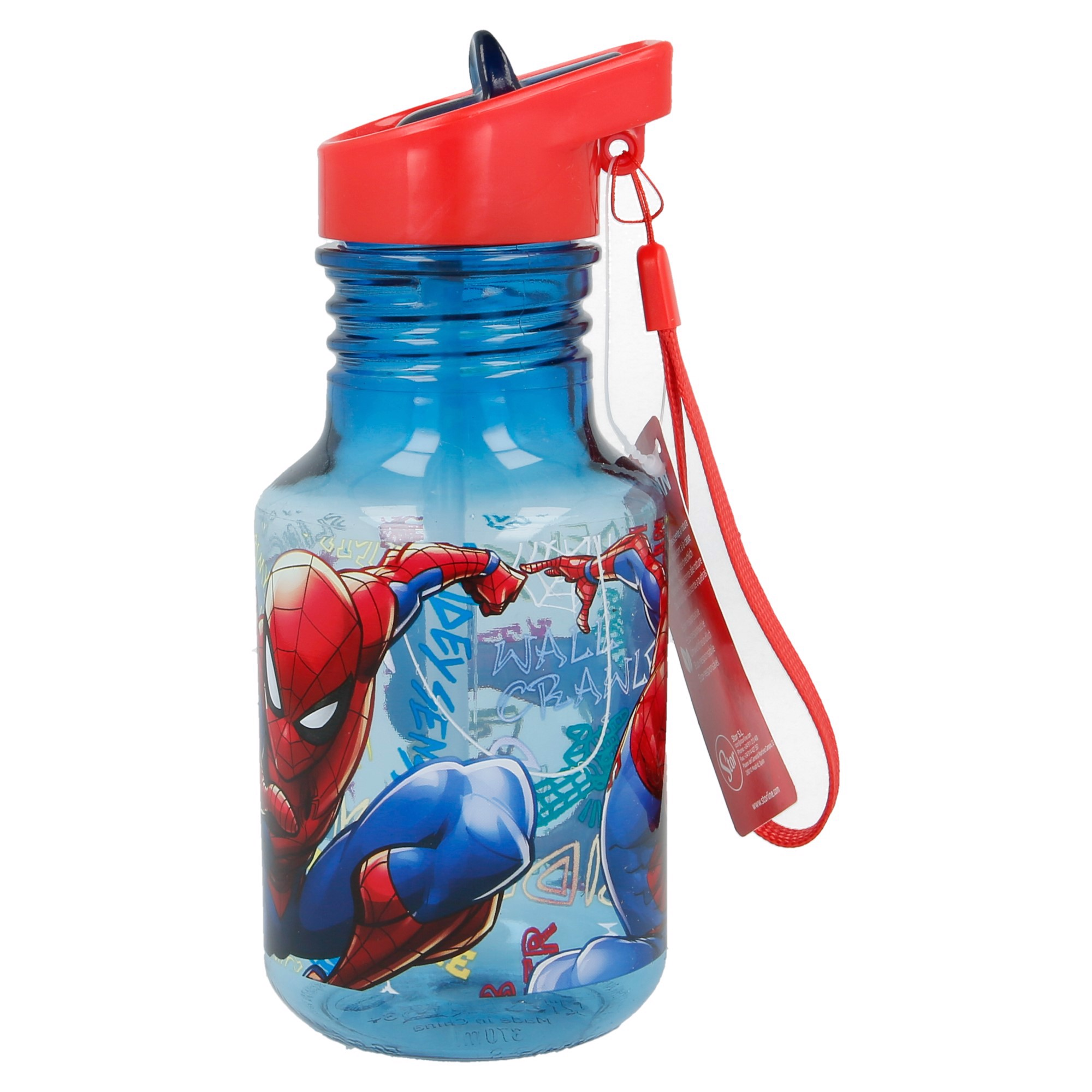 Bình nước LIGHT BULB TRITAN SPIDERMAN GRAFFITI  370ML
