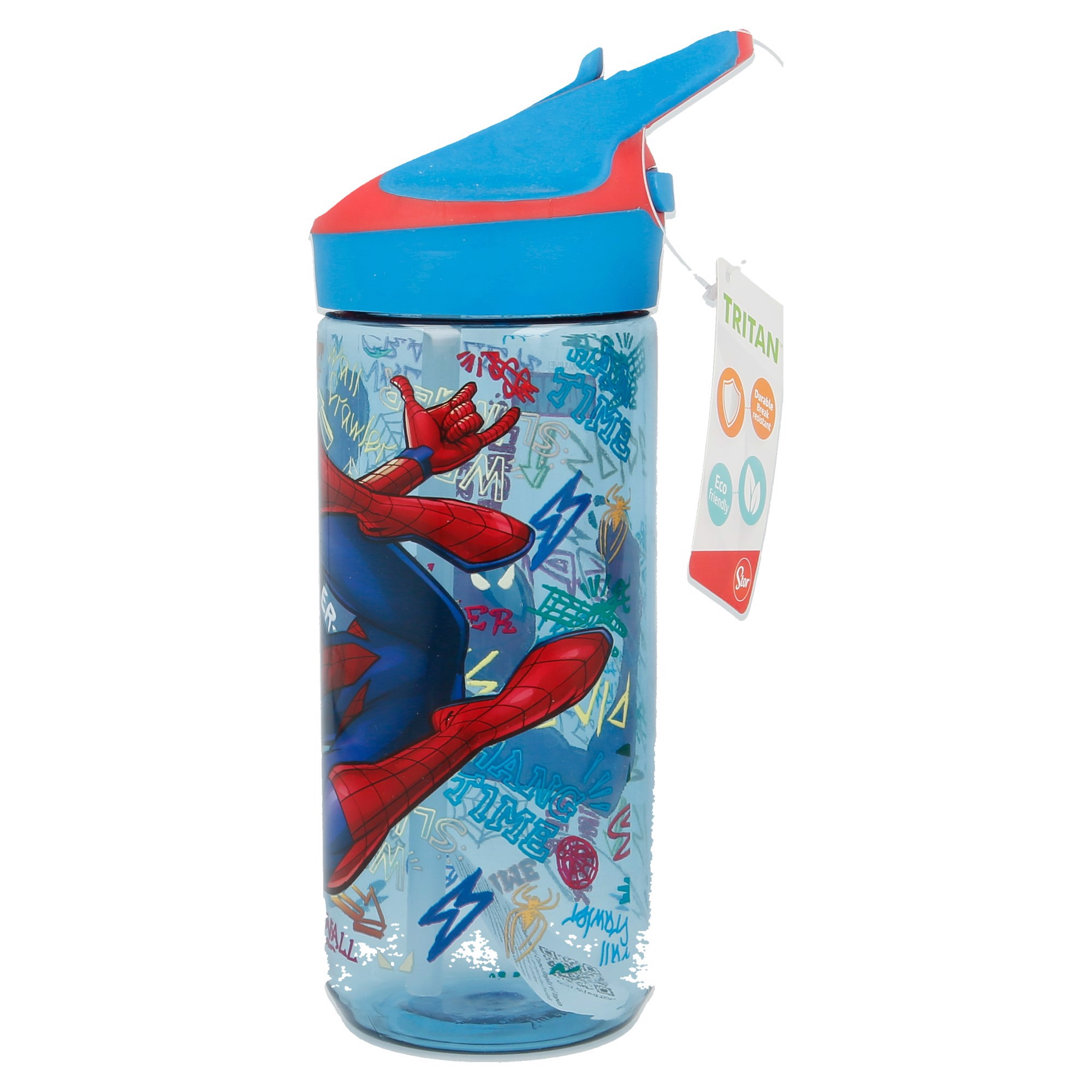 Bình nước MEDIUM TRITAN PREMIUM SPIDERMAN GRAFFITI 640ML