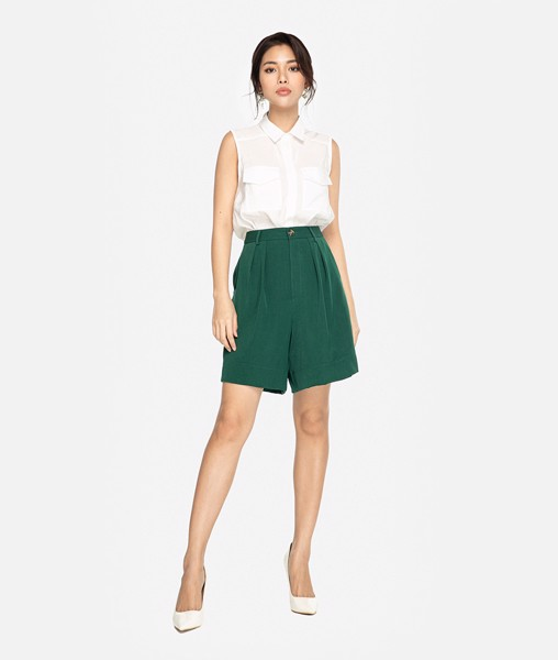 Short tailor dáng A xếp ly