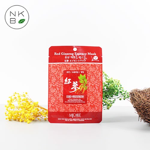 MJCARE RED GINSENG ESSENCE MASK - Mặt nạ Hồng sâm