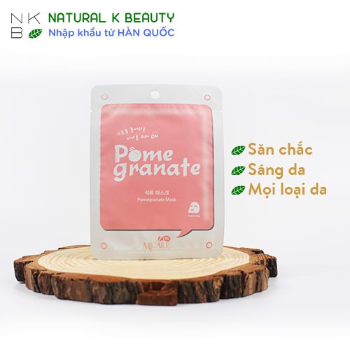 MJCARE ON POMEGRANATE MASK - Mặt nạ Lựu