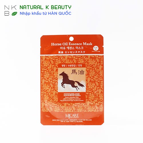 MJCARE HORSE OIL ESSENCE MASK - Mặt nạ dầu ngựa