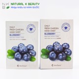 SKIN PLANET DAILY FRESH GARDEN BLUEBERRY MASK- Mặt Nạ Việt Quất