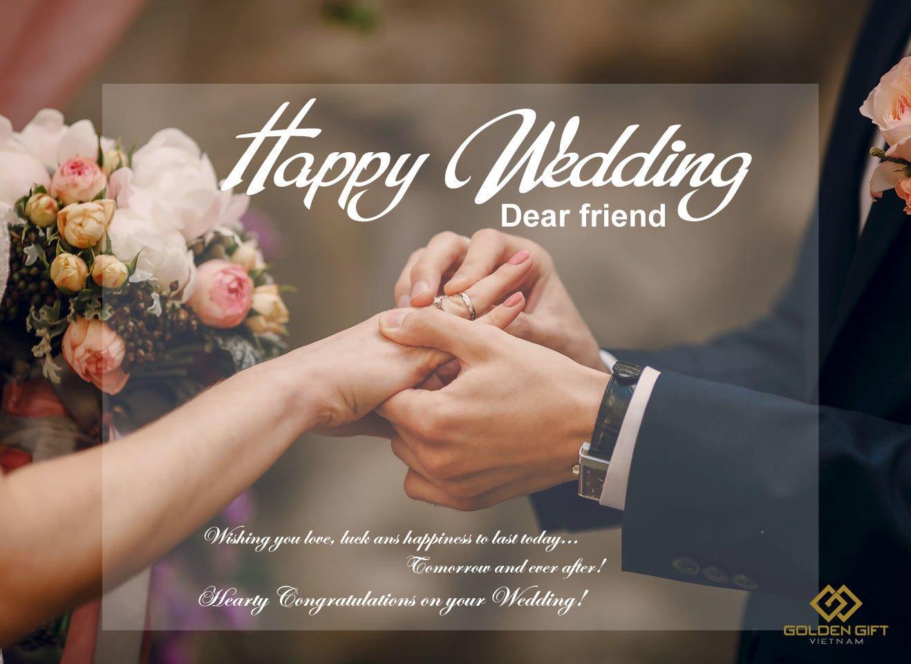 lời chúc đám cưới bạn bè, người thân, quà tặng mừng cưới, quà tặng mạ vàng
