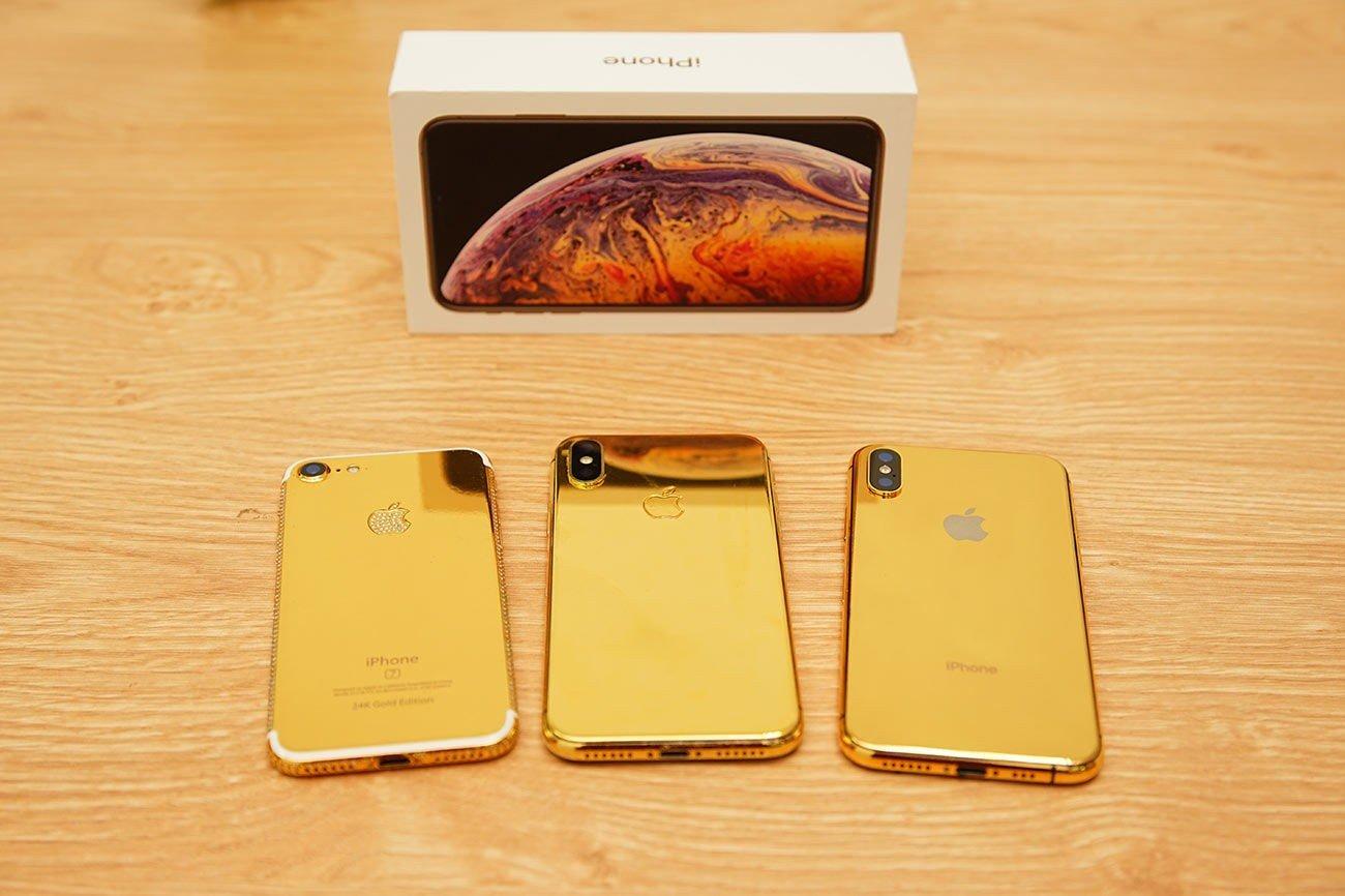 mua iphone XS max phiên bản mạ vàng 24K tại Hà Nội,HCM, độ vàng điện thoại iphone
