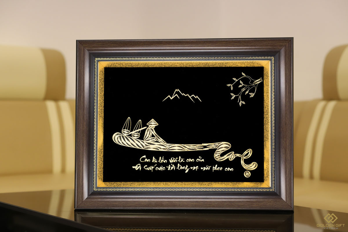 Tranh chữ Mẹ mạ vàng 24K✅quà tặng mẹ, đấng sinh thành ngày của Mẹ năm nay✅món ăn ngày Mother''s Day