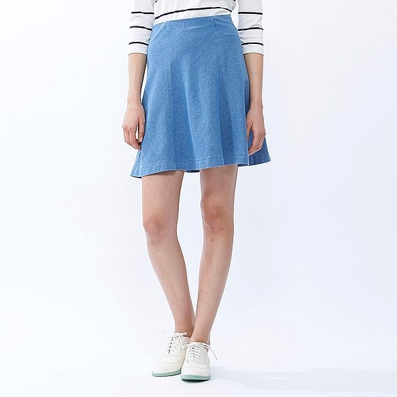 Chân váy Denim Flare Skirt Uniqlo - 144613