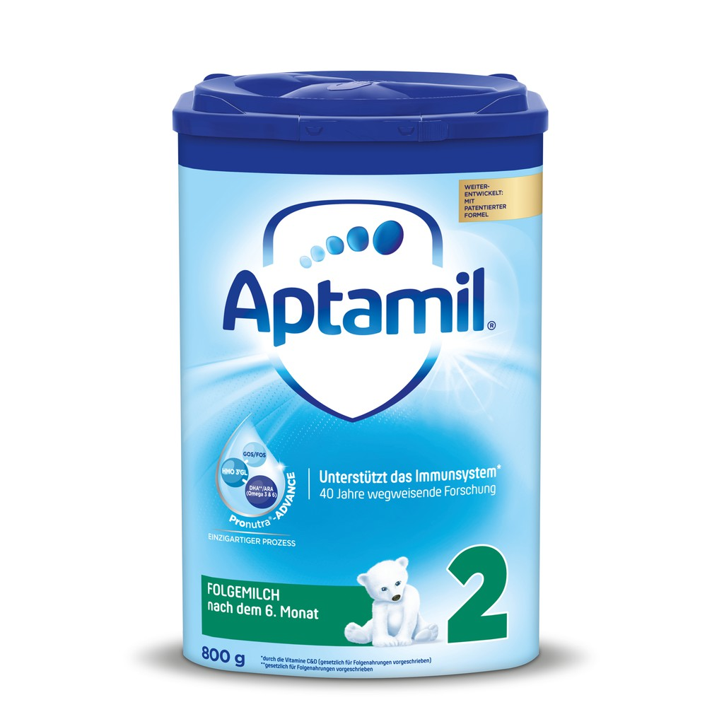 Sữa Aptamil Đức số 2 - Pronutra thế hệ mới