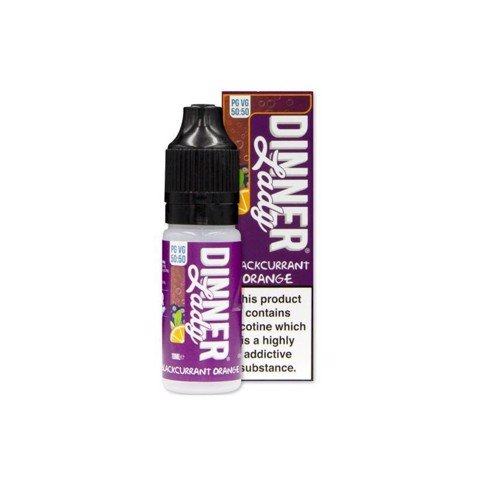 Blackcurrant Orange (50:50) by Dinner Lady (10 ml) (Sinh tố cam đen)
