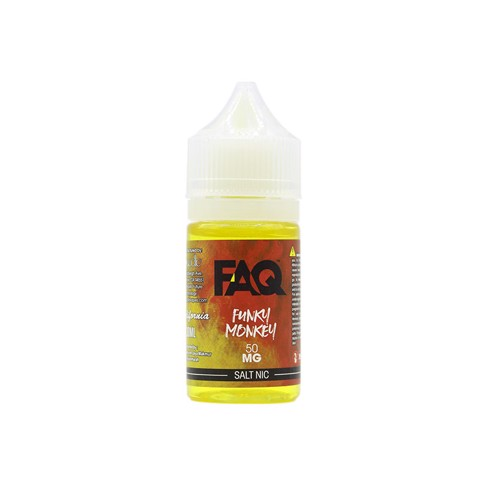 Funky Monkey Salt Nic by FAQ (30ml) (Dâu kiwi chuối) - 50 mg