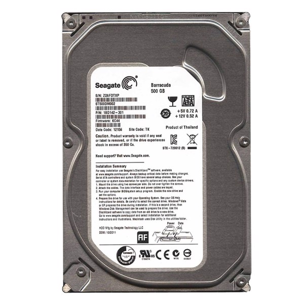 HDD SEAGATE 500GB BH 24TH CÔNG TY