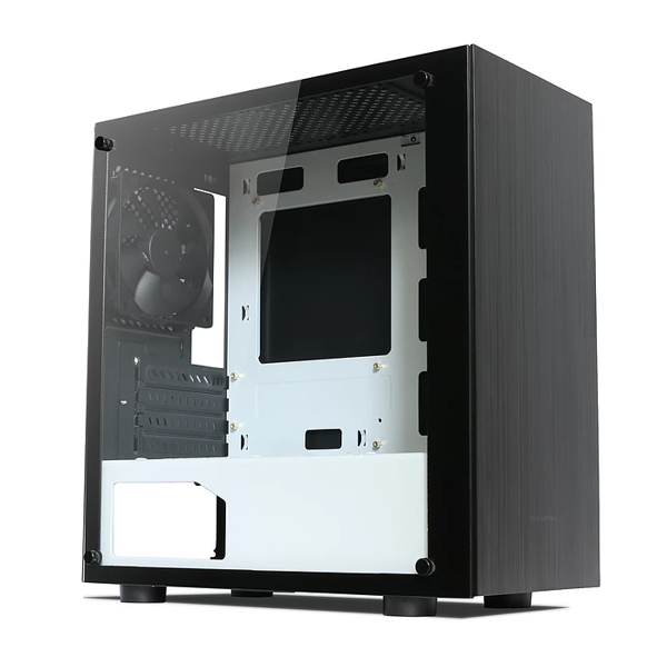 Case NEXUS M BR Tempered Glass Micro ATX Black/Red