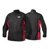 Áo khoác thợ hàn tay da | Shadow Split Leather Sleeved Welding Jacket - K2986-M,-L,-XL,-XXL,-XXXL, -5XL
