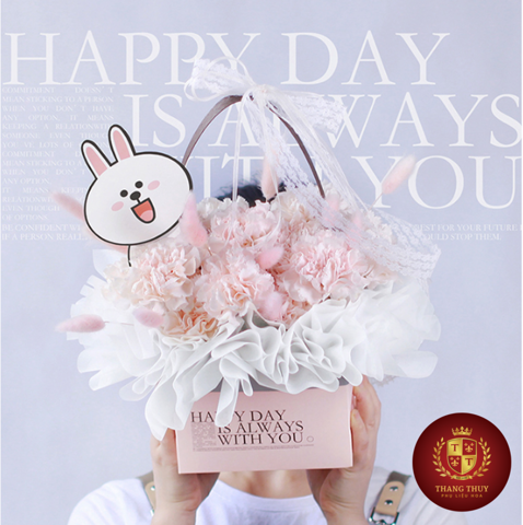 Hộp hoa flower box túi xách happy day with you