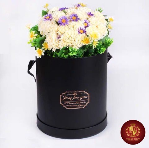 Hộp hoa Flower box Tròn Just for you