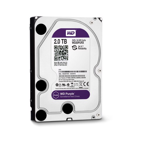 Ổ Cứng HDD Western Digital Purple 2TB 3.5 inch Sata 3
