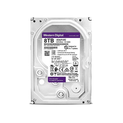 Ổ Cứng HDD Western Digital Purple 8TB 3.5 inch Sata 3