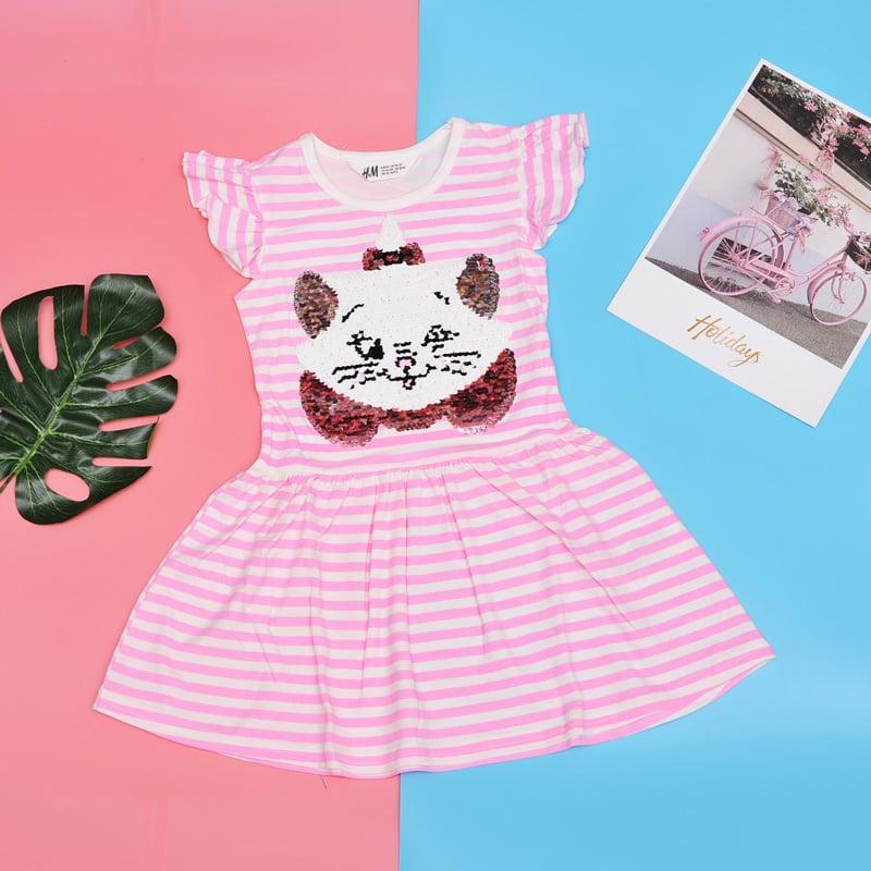 Đầm HM mèo hồng kim sa