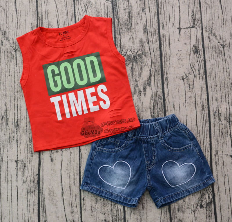 BỘ JEAN SHORT GOOD TIME