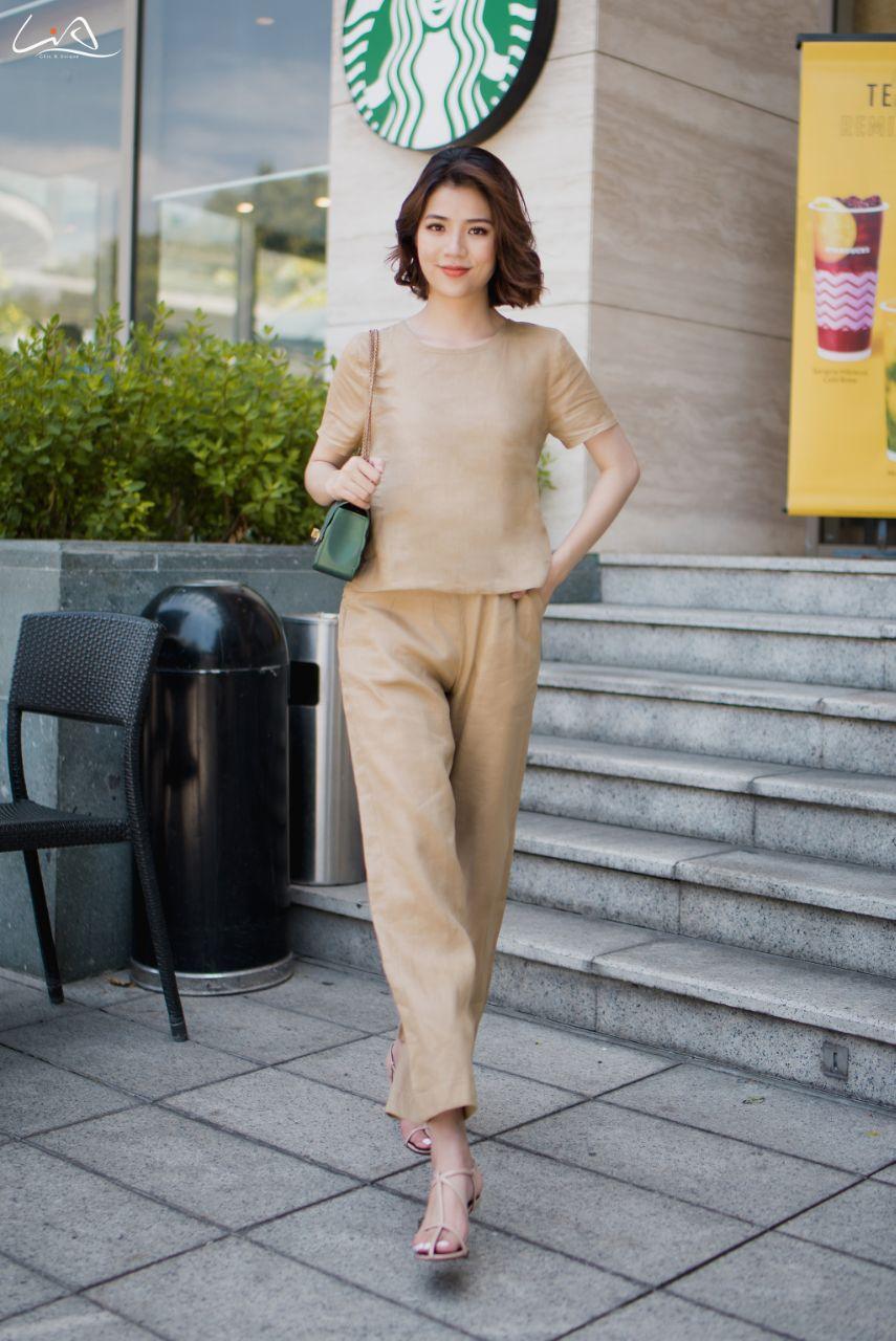 Set bộ Linen cao cấp M13 - LiA - Thanh Xuân Rạng Rỡ