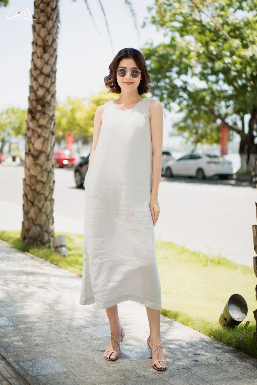 Đầm Linen cao cấp M06 - LiA - Thanh Xuân Rạng Rỡ