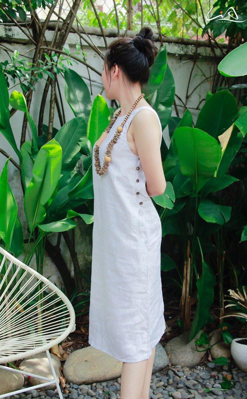 Đầm Linen Suông Thanh Lịch, Tinh Tế