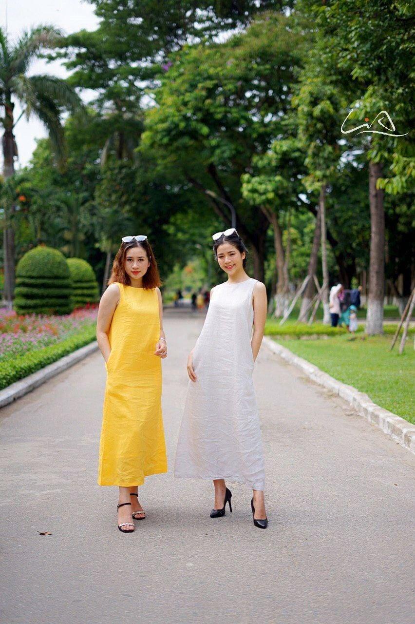 Đầm linen cao cấp dáng suông M01 - LiA
