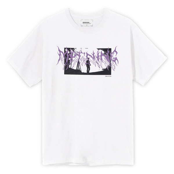 Isolation Tee - White/Purple