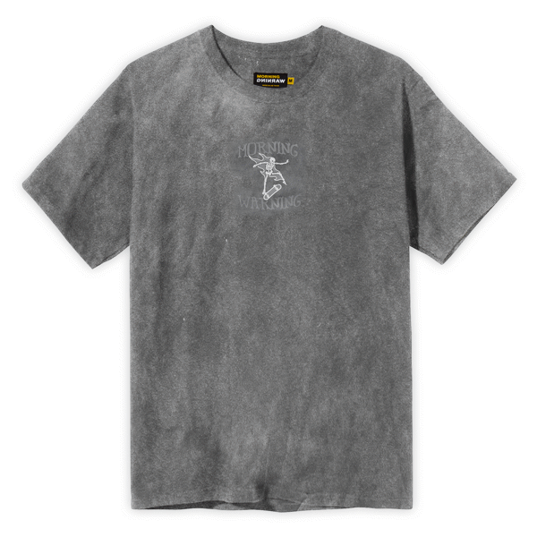 Skating Skeleton Tee - Gray Wash