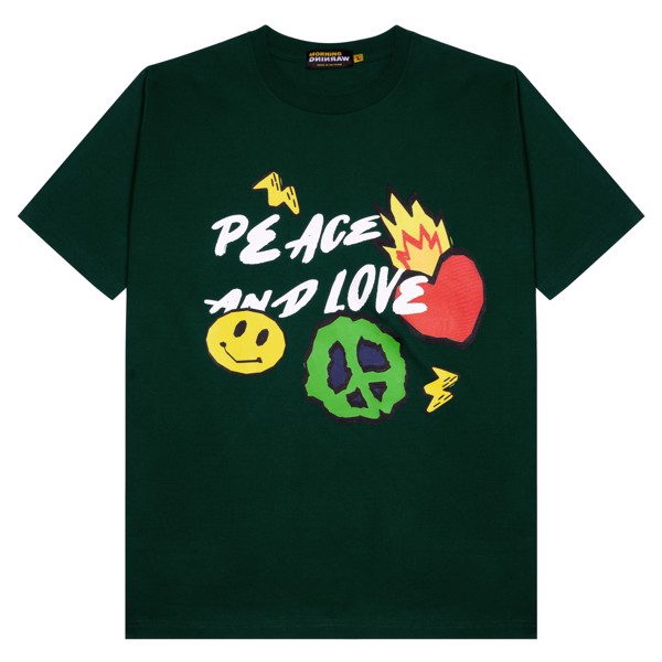 Peace & Love Tee - Green