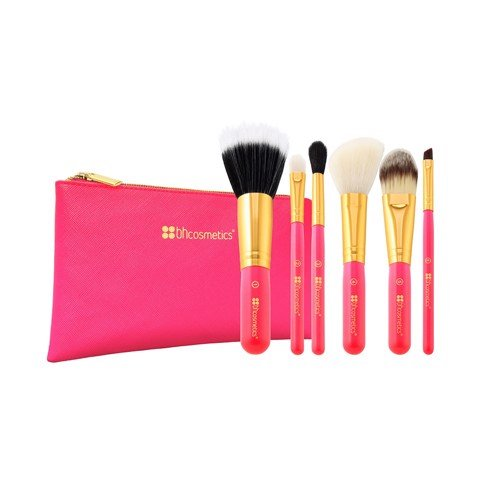 Bộ Cọ BH Cosmetics Neo Pink 6 Piece Brush Set With Cosmetics Bag 6 Cây