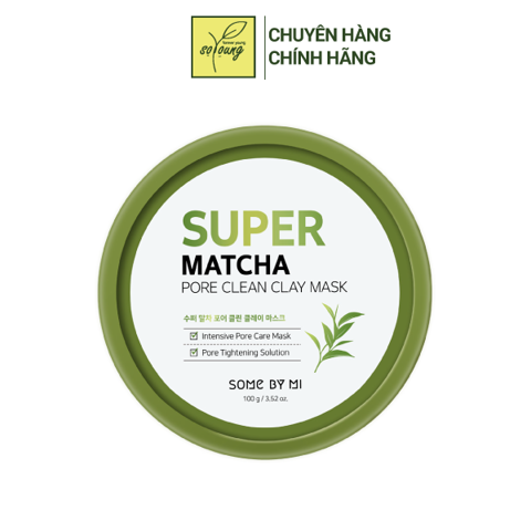 Mặt Nạ Dưỡng Da Some By Mi Super Matcha Pore Clean Clay Mask 100g