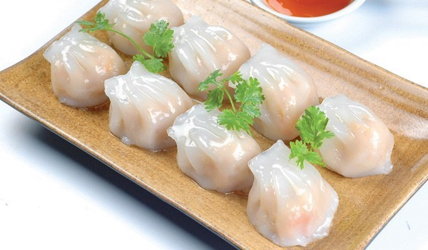 Steamed shrimp and chive dumpling | Há cảo tôm hấp