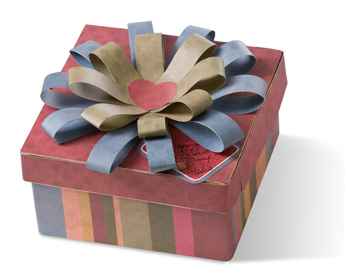 Mẫu hộp quà nơ hoa to trang trọng