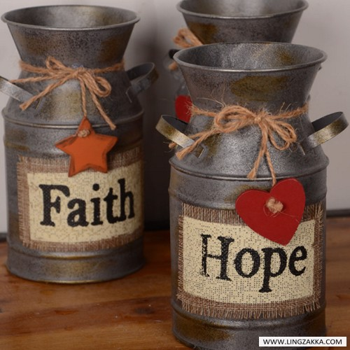 Bình Faith Hope Love
