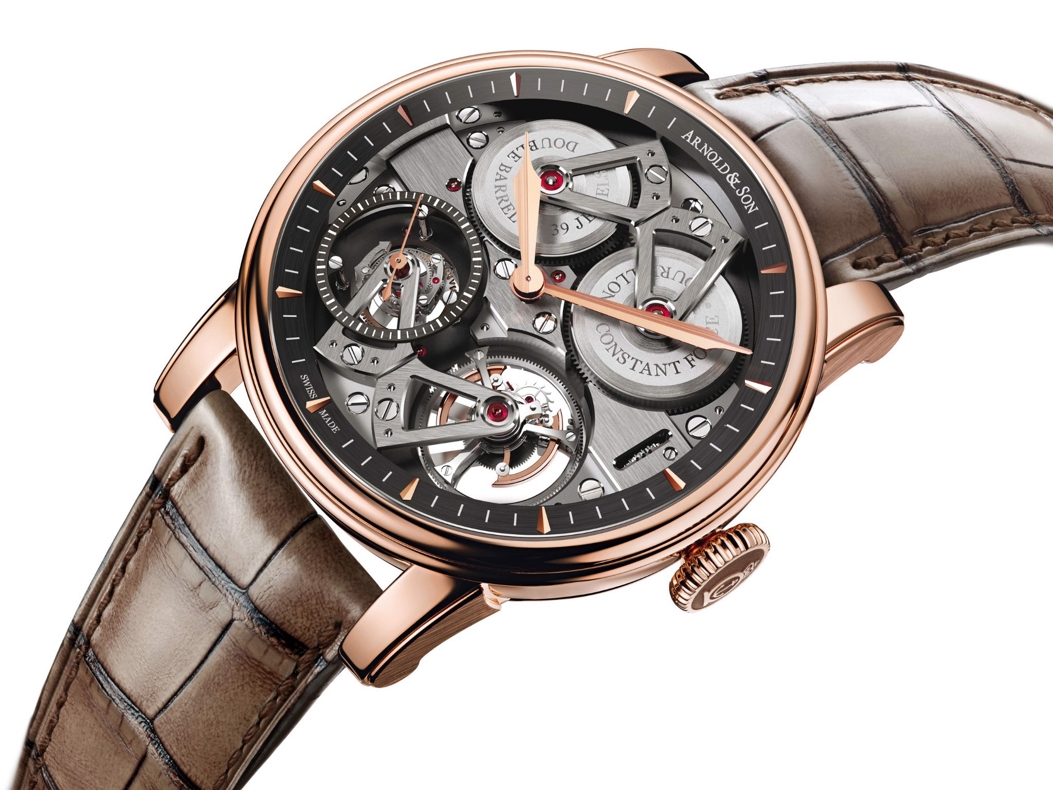 Arnold & Son Royal Constant Force Tourbillon Rose Gold 46mm