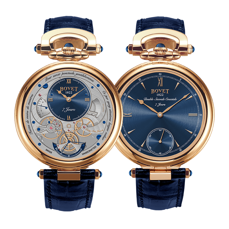 Bovet Amadeo® Fleurier Complications Monsieur BOVET Rose Gold Blue Dial 43mm