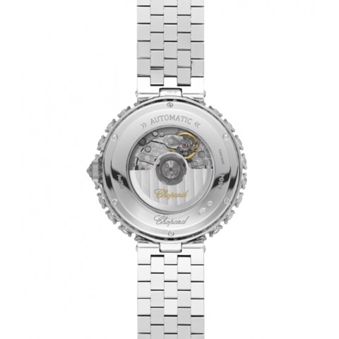 Chopard L'heure Du Diamant Round Automatic Diamond White Gold Bracelet 36mm