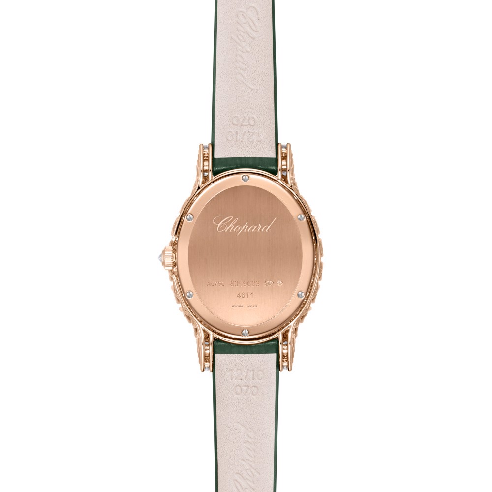 Chopard L'heure Du Diamant Oval Diamond Rose Gold Malachite Green