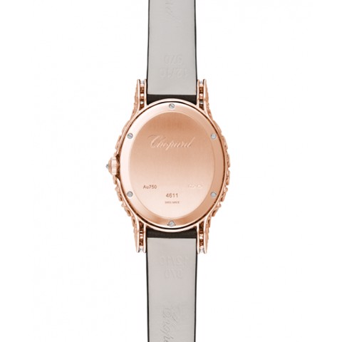 Chopard L'heure Du Diamant HMM Diamond Rose Gold Leather Strap 34mm