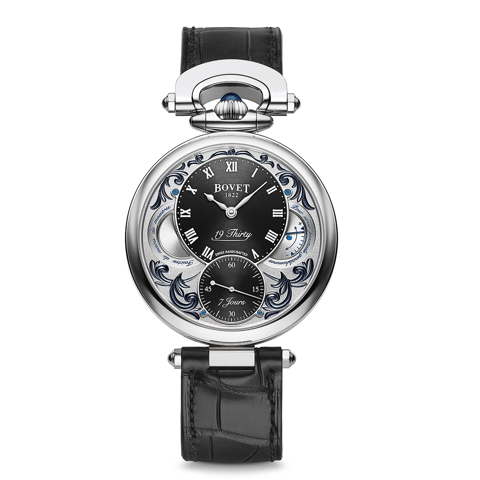 Bovet 19Thirty Fleurier Hand-engraved Black background with lacquer 42mm